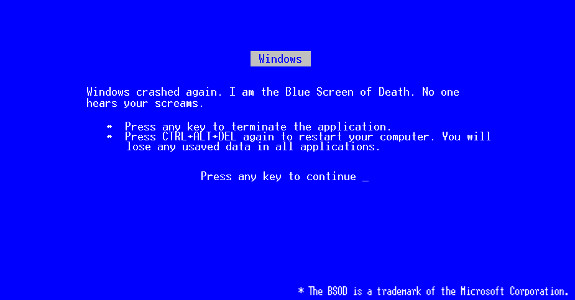 Ecran bleu de la mort qui tue