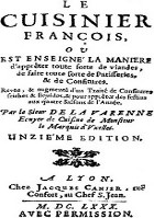 Livre de Cuisinier François
