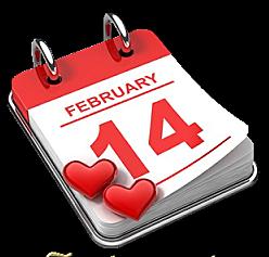 calendrier au 14 février